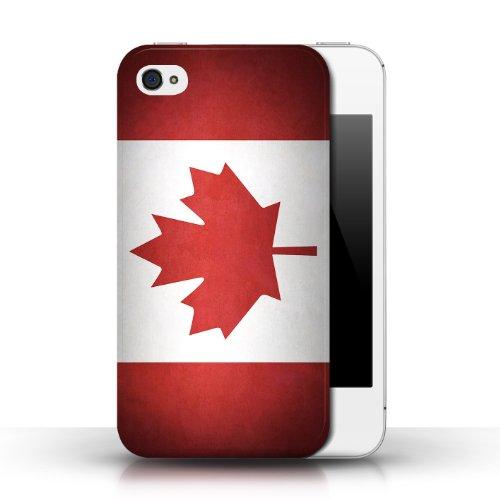 Etui / Coque pour Apple iPhone 4/4S / Canada/canadien conception / Collection de Drapeau