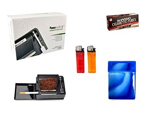 Powermatic 2 PLUS Electric Cigarette Injector Machine+FREE Tubes,Cig Case & lighters