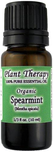 Organic Spearmint Essential Oil. 10 ml (1/3 oz). 100% Pure, Undiluted, Therapeutic Grade., Health Care Stuffs