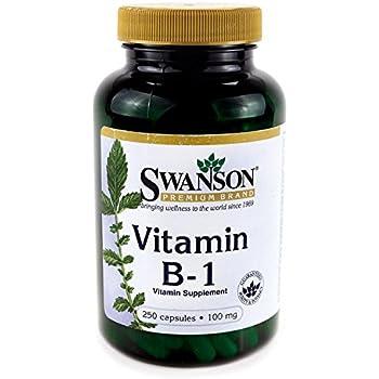 Swanson Vitamin B-1 (Thiamin) 100 mg 250 Caps