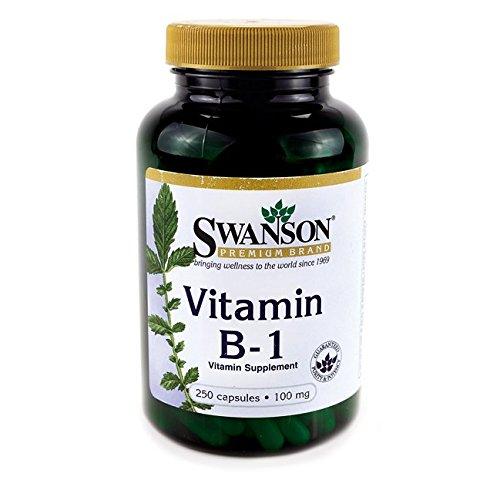 Swanson Vitamin B-1 (Thiamin) 100 Milligrams 250 Capsules