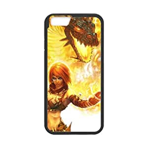 iPhone 6 4.7 Inch Cell Phone Case Covers Black Beast On Fire vwjx