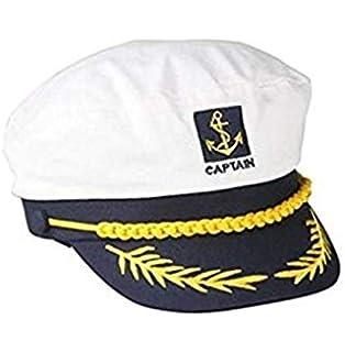 d2effa8315ff Moda Blanco Sombrero de Marinero Capitán Gorra de Algodón para ...