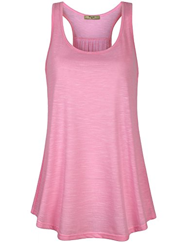 Cestyle Athletic Tank Top Women Loose Fit,Juniors Sleeveless Racer Back Fitness Tops Exercise Shirts Tee Athleisure Workout Tanks for Jogger Pink Marble XX-Large