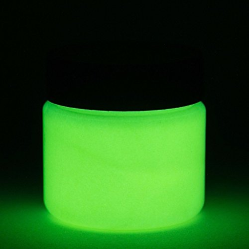 Fluorescent Glow in The Dark Paint - 1 Ounce (Fluorescent Yellow) - 5+ Colors Available -