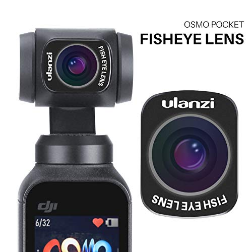 ULANZI OP-8 OSMO Pocket Fisheye Lens Magnetic Structure for DJI OSMO Pocket Camera Handheld Gimbal Stabilizer Accessories Fish Eye Camera Lens