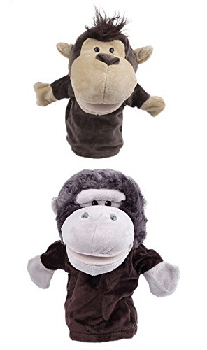 - YueLian 2 Sets Kids Plush Animal Hand Puppets 94inch, Monkey Gorilla