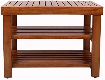 収納ベンチ 理想的なのために玄関廊下のバスルームリビングルーム、廊下3ティア木製シューズラックベンチ靴主催ストレージシェルフ 柔軟 多用途 (Color : Brown, Size : 60x33x46cm)
