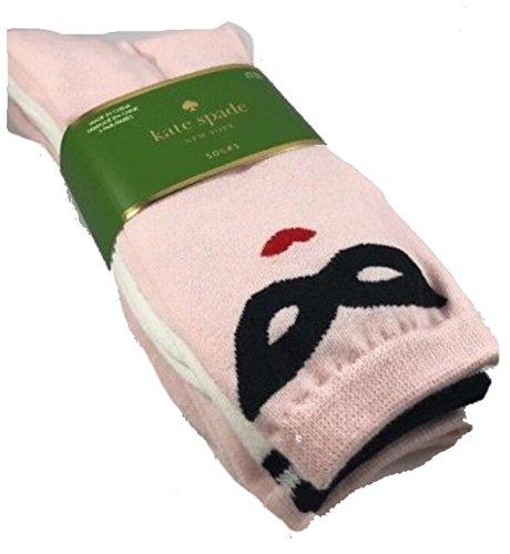 Kate Spade Pack of 3 Crew Socks, Mustache Mask, -