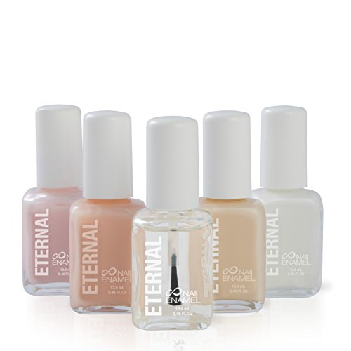 – 5 Pieces Set: Long Lasting, Quick Dry, Bright, Nude or Sheer Nail Polish – 0.46 Fl. Oz (Et Voilà!) ()