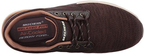 42 Chocolate Uomo Basso M 65123 Marrone D Collo A EU Skechers aq07wYFq