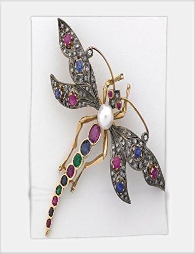 Minicoso Bath Towel dragonfly jeweled brooch 24285544 For Spa Beach Pool Bath