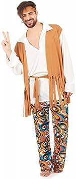 Disfraz de hippie para hombre: Amazon.es: Juguetes y juegos