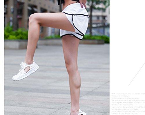 Esecuzione Donna Elastico Sportivi Casuale Maibar Gli Bianco Yoga Ghette Leggings Pantaloni Shortsda In Pantaloncini Estate FxW0qB5