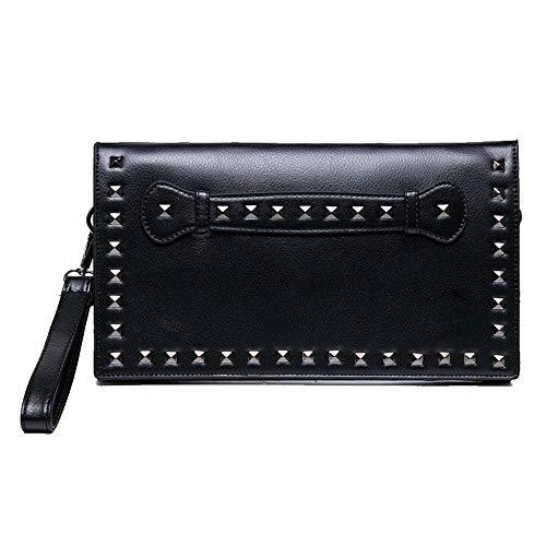 Catkit Womens Rivet Punk Envelope Handbag Shoulder Crossbody Evening Bag