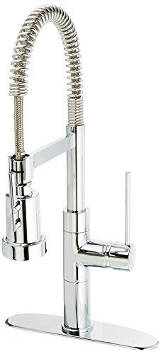 LaToscana 78CR557PHD Elba Single Handle Pull-Out Spray Kitchen Faucet, Chrome Finish