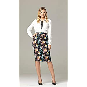 Premium Women's Pencil Skirt – Elastic Waist – Stretch Bodycon Midi Skirt – Many Colors