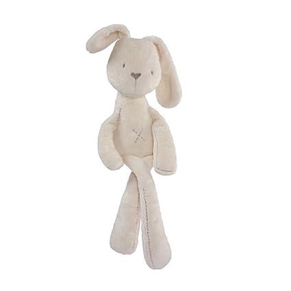 Isuper Peluche Conejito bebé,Doll Peluches Conejo,Muñeca de Animales Lindos Calmante Cuna Cama para Bebé y Recién Nacidos