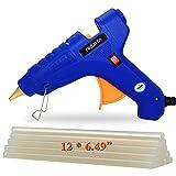 Hot Glue Gun with 12 PCS Glue Gun Sticks Full Size Glue Gun(Not Mini) Tool for DIY Bonding High Temperature Melting Glue Gun 100% Safety(100watts Blue )