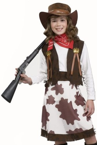 Girl Cowgirl Costumes (Cowgirl Child Costume, Medium)