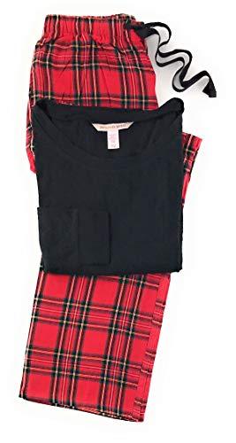 (Victoria's Secret Lounge Pajama Set Medium Black/Red)