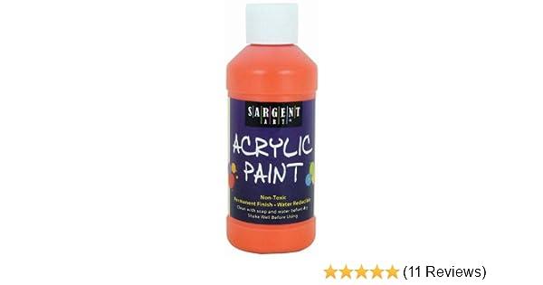amazon com sargent art 22 2314 8 ounce acrylic paint orange