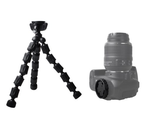 "Triple Tripod Kit + RC-6 Wireless Shutter Release Remote Control For Canon EOS Rebel T5i, T4i, T3i, 5D, 7D, 7D Mark II, 6D, 60D, 70D DSLR Includes 57"" Full Tripod + 67"" Monopod + 10"" Flexible Tripod"