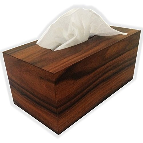 Wooden Tissue Box Cover In Bolivian Rosewood Veneer Rectangular Regular Size - Kleenex Opening With - A Polaroid Where Buy To