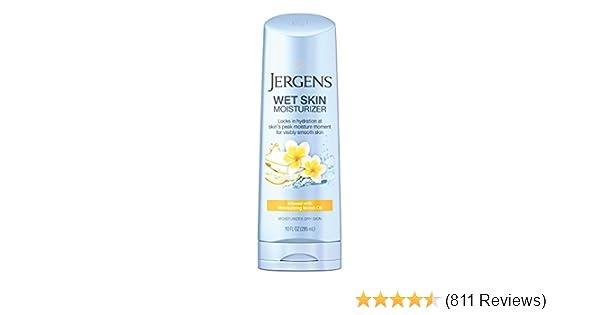 Jergens Wet Skin Moisturizer, Monoi Oil, 10 Ounce