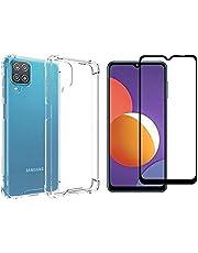 Kit Capa Capinha Case e Pelicula de Vidro 3D para Samsung Galaxy M12 Com Tela de 6.5 Polegadas - (C7COMPANY)