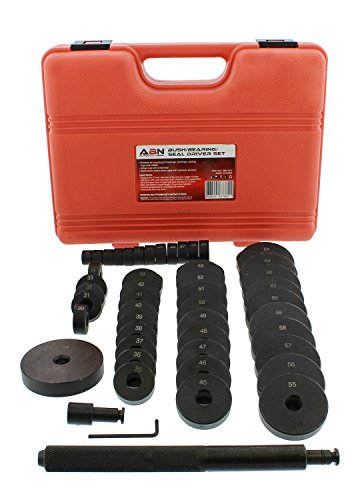 ABN Bush, Bearing, Seal Driver 50-Piece Set with Carrying Case – 18-65mm & 74mm Metric Discs, Shaft, Allen Key, Screw by ABN (Image #3)