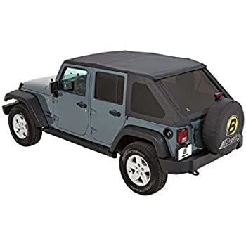 Jeep Wrangler Soft Top >> Amazon Com Bestop 56823 35 Black Diamond Trektop Nx Complete
