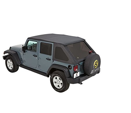 Bestop 56823-35 Black Diamond Trektop NX Complete Frameless Replacement Soft Top with with Sunrider Sunroof Feature for 2007-2017 Wrangler Unlimited DISCONTINUED BY MANUFACTURER