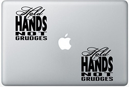 Quote Hold Hands Not Grudges Subway Art ArcDecals78602534 Set Of Two (2x) , Decal , Sticker , Laptop , Ipad , Car , ()