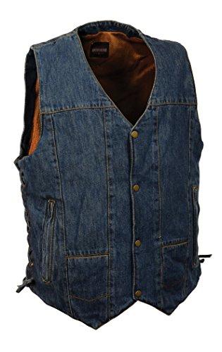 (MILWAUKEE PERFORMANCE Men's 10 Pocket Denim Lace Vest)