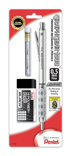 Pentel GraphGear 1000 Mechanical Pencil 0.5mm (PG1015EBP) (1000 Graphgear Pentel)