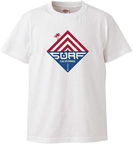 Tシャツ メンズ 半袖 おしゃれ サーフ 星 SURF パーム アメリカ USA クルーネック Uネック ユニセックス 男女兼用 プリントTシャツ
