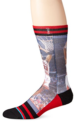 Stance Men's Pippen Crew Sock, Red, Sock Size:10-13/Shoe Size: 6-12