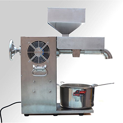 JIAWANSHUN 30kg/h Commercial Electric Hot and Cold Oil Presser / High Power Oil Press Machine Stainless Steel 1500W (110V) by JIAWANSHUN