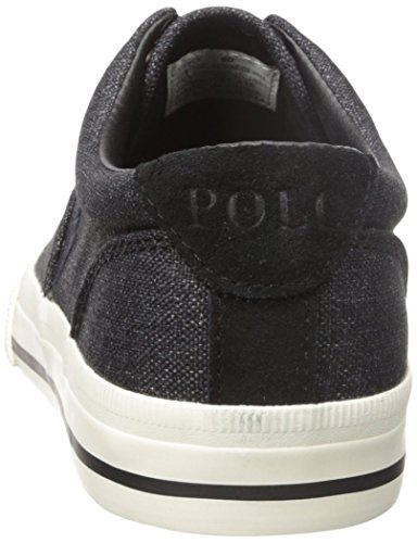 Polo Ralph Lauren Mens Vito Heathered Nylon Fashion Sneaker Nero