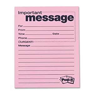Amazon.com : Post-it Super Sticky Telephone Message Notes, 4 x 5 ...