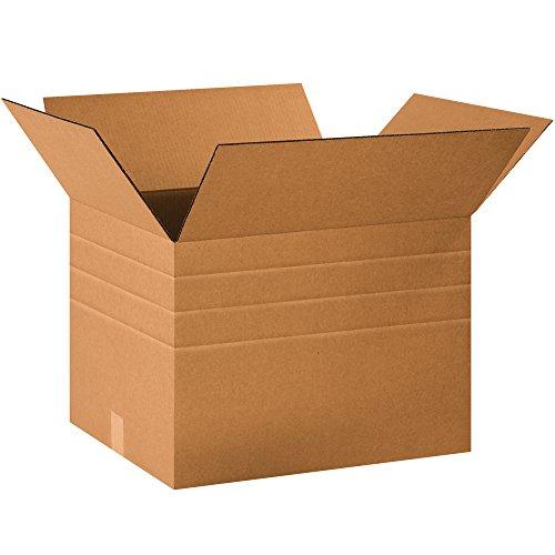 BOX USA BMD201614 Multi-Depth Corrugated Boxes, 20
