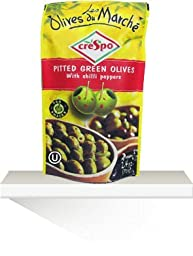 Crespo Pitted Green Olives with Chili Peppers (70 Gr Pouch) 10 Pouches