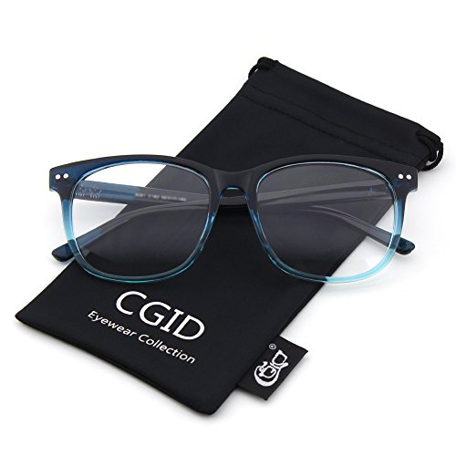 Happy Store CN81 Large Oversized Bold Frame UV 400 Clear Lens Horn Rimmed - Sunglass The Store Fake