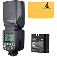 Godox V860II-N 2.4G TTL Li-on Battery Camera Flash Speedlite for Nikon D800 D700 D7100 D7000 D5200 D5100 D5000 D300 D300S D3200 D3100 D3000 D200 D70S D810 D610 D90 D750 (V860II-N)