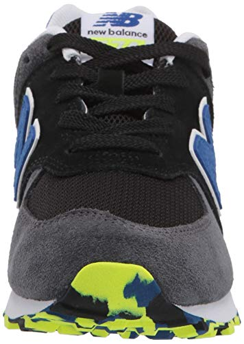 New Balance Boys' Iconic 574 Sneaker Black/Royal Blue 4.5 M US Big Kid by New Balance (Image #4)
