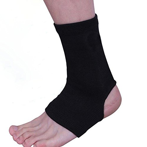 Autohome Ankle Pain Brace 1 Pair Sports Outdoors Wear Foot Support Charm Black