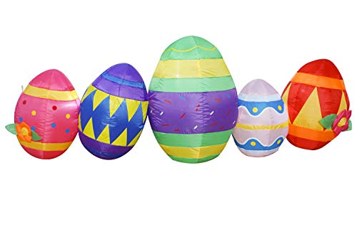 SEASONBLOW 6 Ft Easter Egg Inflatable Eggs Decoration for Indoor Outdoor Home Yard Lawn Decor