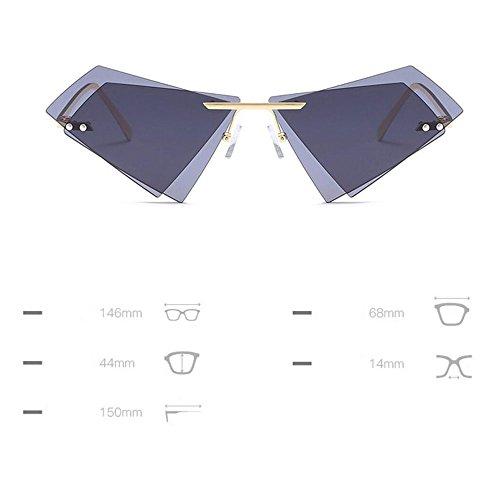 Sunglassesdouble Protection Lentille Marine Cadre Lunettes Soleil Femmes Blanc Triangle Uv400 GAOLIXIA Métal Pare Soleil Et De Hommes gRwdO5nq