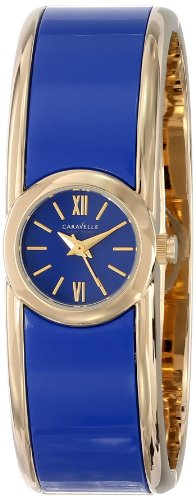 Ladies Bulova Two Tone Bangle Watch - Caravelle New York Women's 44L145 Bangle Watch